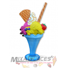 Poubelle - Coupe glace fruits chantilly gaufrette - 205 cm